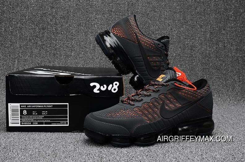 7cd6675e6be Men s Nike Air Vapormax Flyknit 2018 Anthracite Grey Orange Super Deals