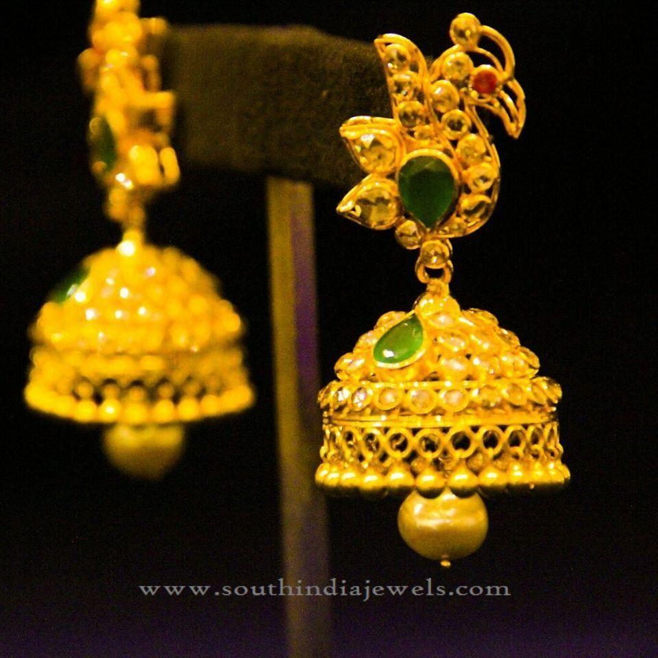 Indian Gold Traditional Jhumka Design
