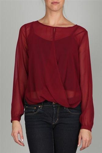 Ark & Co Simple Sheer Drape Blouse