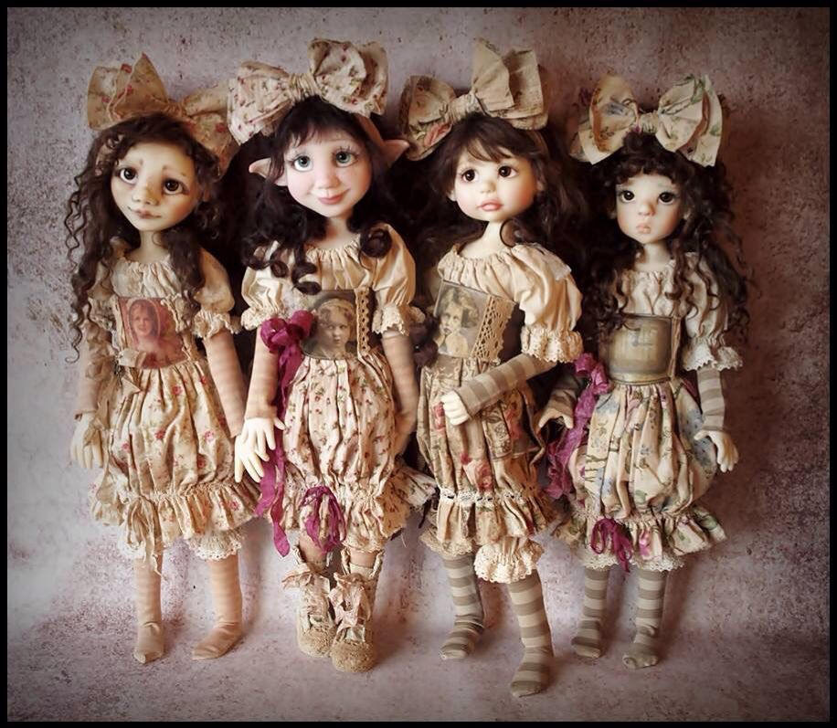 Limited Edition Full Set Handmade MSD BJD Outfits by Kim Arnold for The Trinket Box