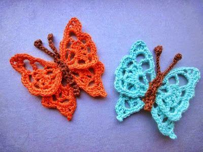 Mariposas de crochet 2 patrones (Patrones para Crochet)   Mariposa ...