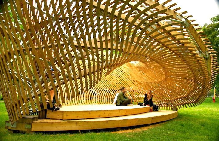 Inhabitable Möbius strip constructed of wood | ContemPLAY Pavilion, designed by McGill architecture students, Montreal- MOBIUS STRIP!! NERD MOMENT