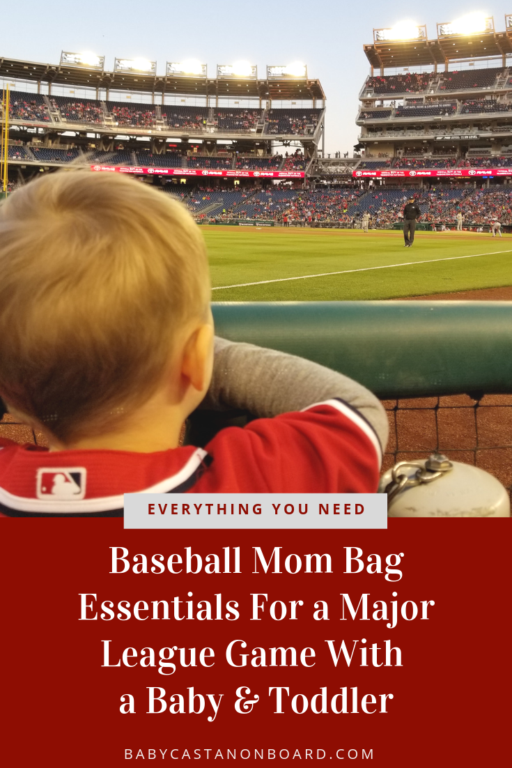 Wondering What You Need To Bring A Baby To A Baseball Game Top Us Mom Blog Baby Castan On Board Shares Baseball Mom Mom Bag Essentials Mom Bags League Gaming