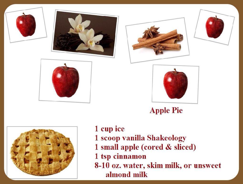 Apple pie Vanilla shakeology, Apple pie, Shakeology