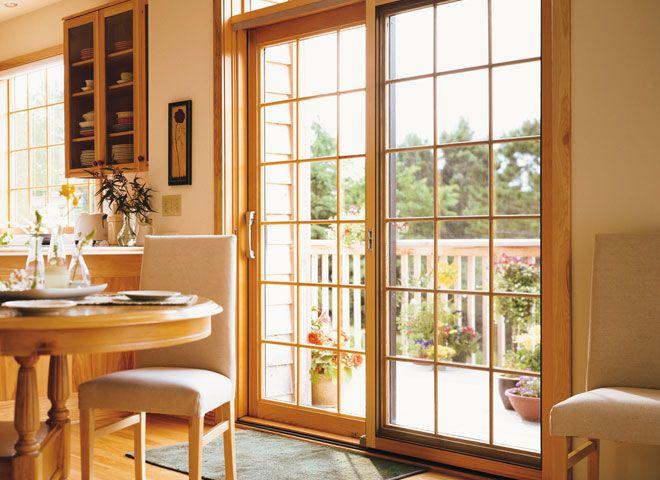 Pella ProLine Sliding Patio Doors Create A Warm, Inviting Kitchen  Atmosphere. . #Pella