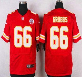 9235d6ad1 Kansas City Chiefs Jersey 66 Ben Grubbs Red Team Color NFL Nike Elite  Jerseys