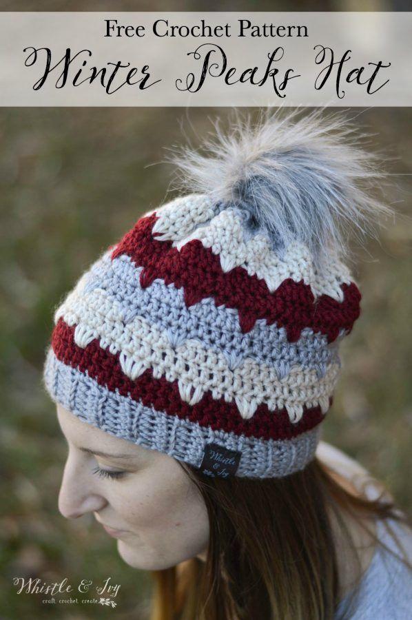 Winter Peaks Hat | Gorros, Tejido y Gorros crochet