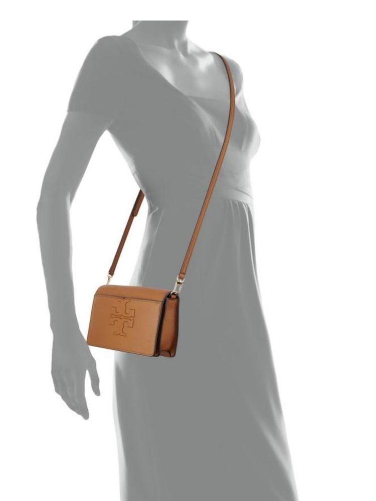 0b3b592f3c2 Tory Burch T Bombe Logo Small Women's Handbag ( Bark Leather Cross Body Bag