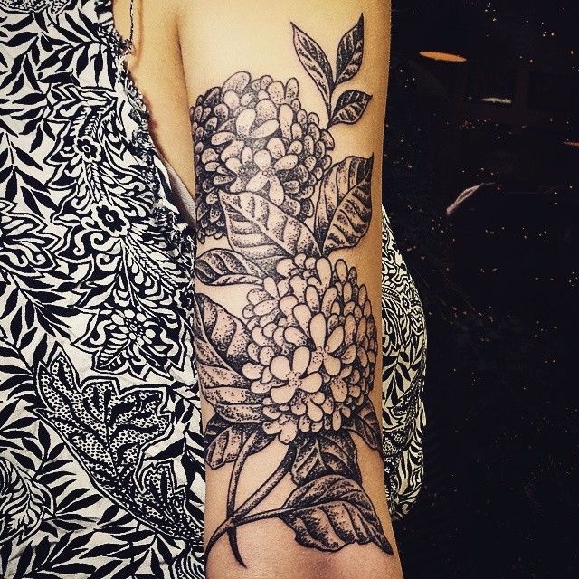 Hydrangea Tattoo Hydrangea Tattoo Feminine Tattoo Sleeves Tattoos