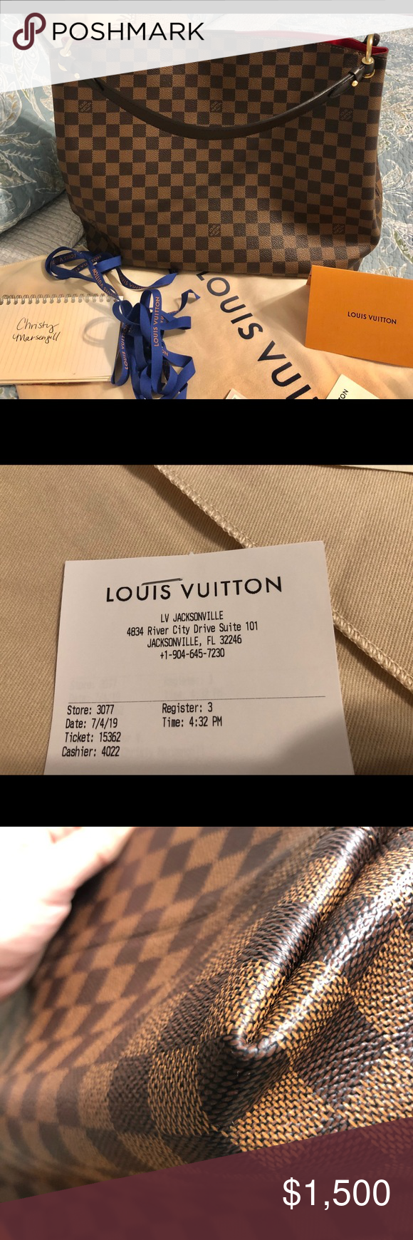 Louis Vuitton Graceful Mm In Damier Ebene Lv Graceful Mm De