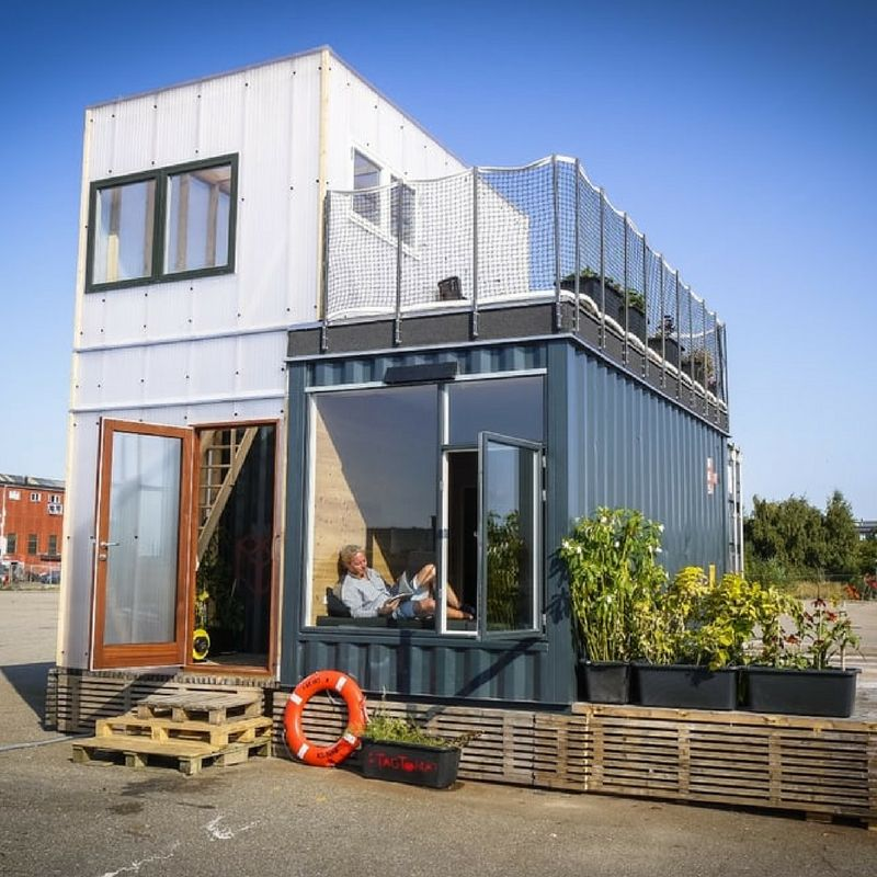 Designer Builds Home Out Of Shipping Containers