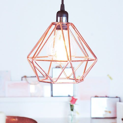 Metal Pendant Light Fitting In A Cool Copper Metal With Adjustable Pendant Length