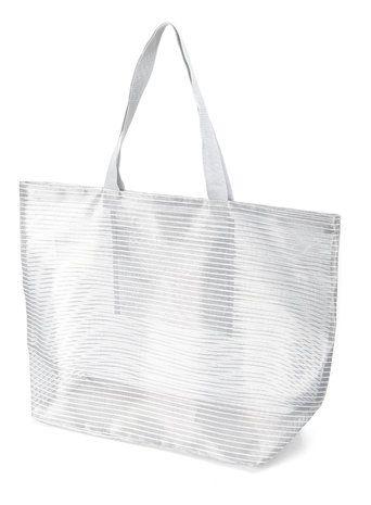 Silver Mesh Beach Bag