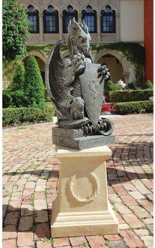 The Grande Dragon Sentinel Statue Design Toscano,http://www.amazon ...