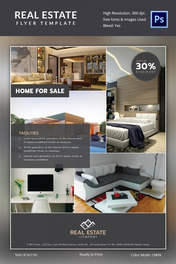 Interior Real Estate Flyer Download  Real Estate Ref