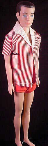 Vintage Ken Doll With Painted Hair 1962 1965 Model