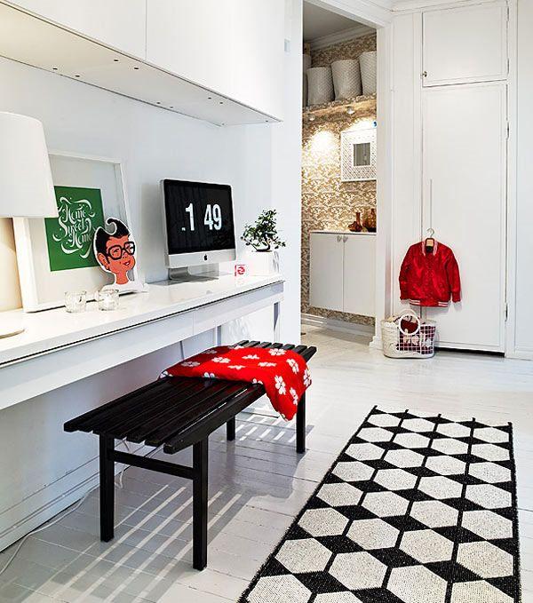 The interior design simple study room using black and white carpet also rh au pinterest