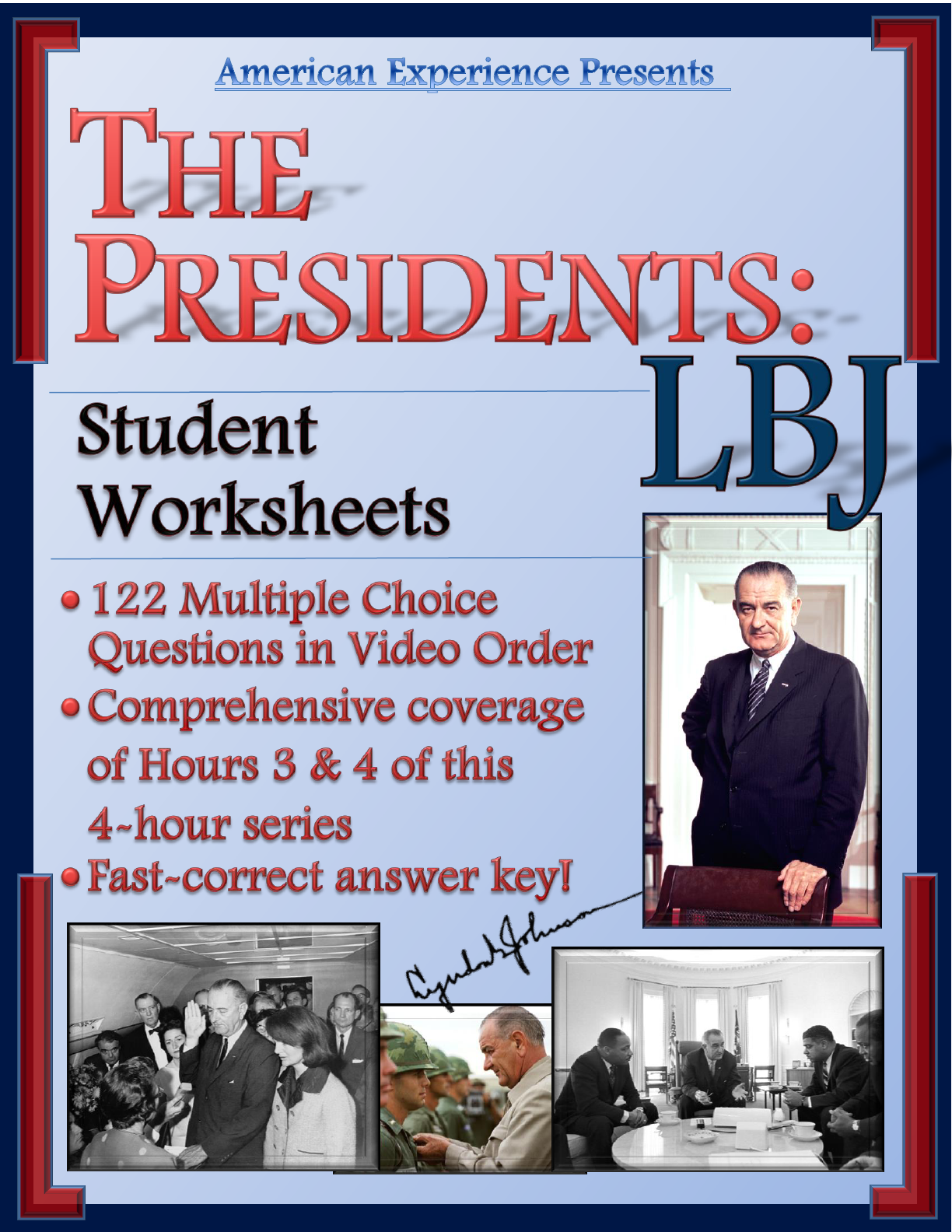 American Experience The Presidents Lbj Worksheets For