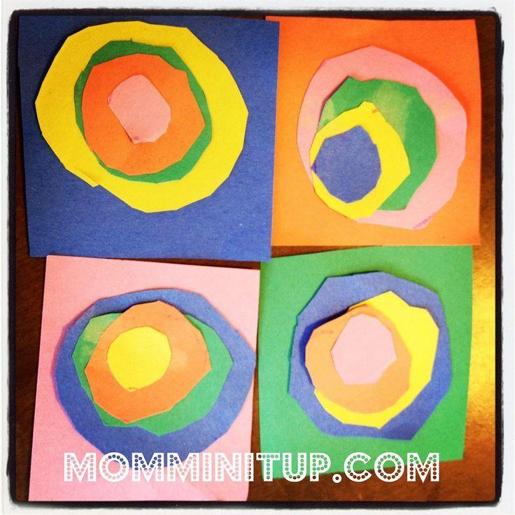 Kandinsky Circles Craft For Preschoolers Preschool Art Projects Circle Crafts Preschool Toddler Art Projects
