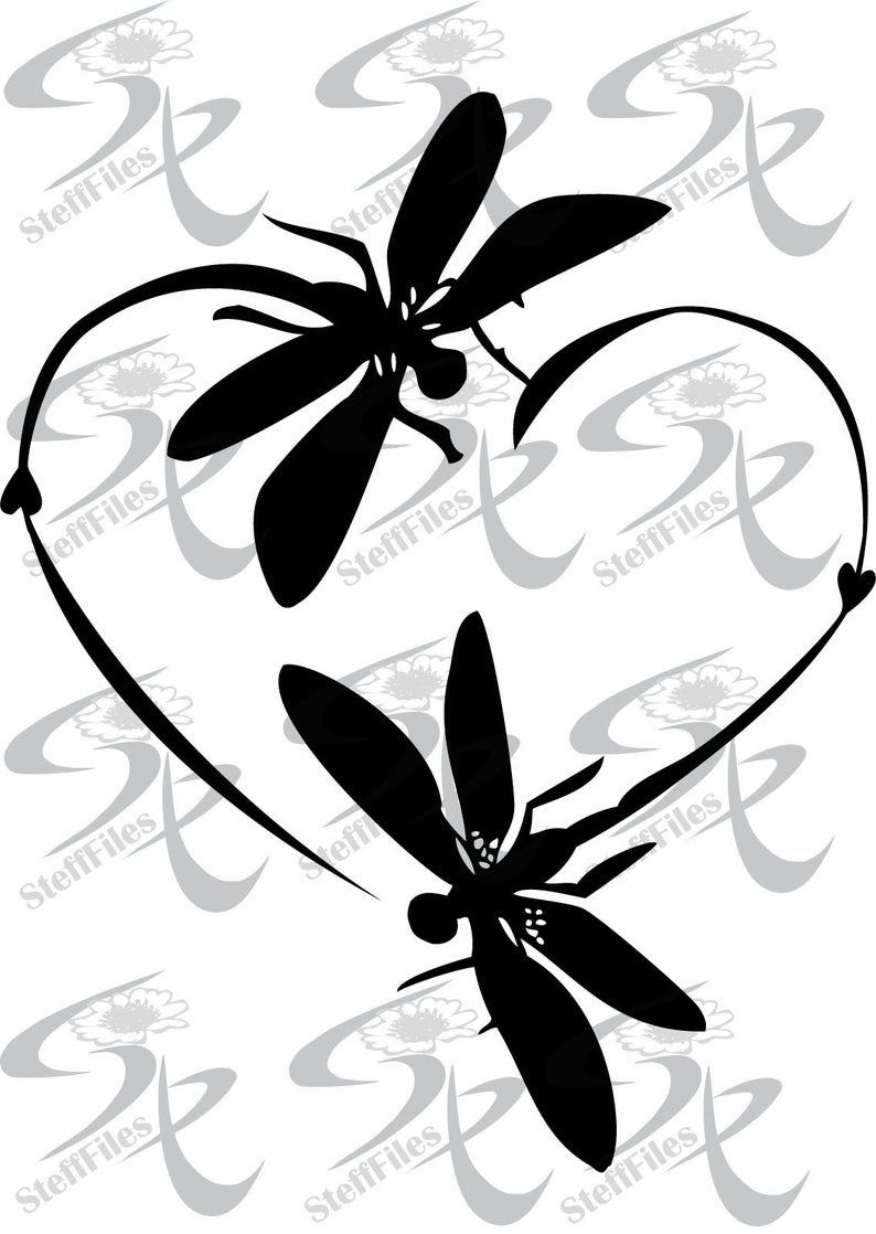 Vector Dragonfly Love Heart Clipart Valentinessvgdxfai Etsy In 2021 Clip Art Dragonfly Images Dragonfly Clipart