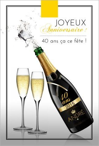 carte d 39 anniversaire champagne un anniversaire a se f te avec des bulles voici la parfaite. Black Bedroom Furniture Sets. Home Design Ideas