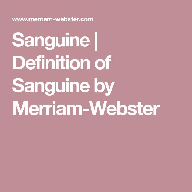 YVETTE: Definition for sanguine