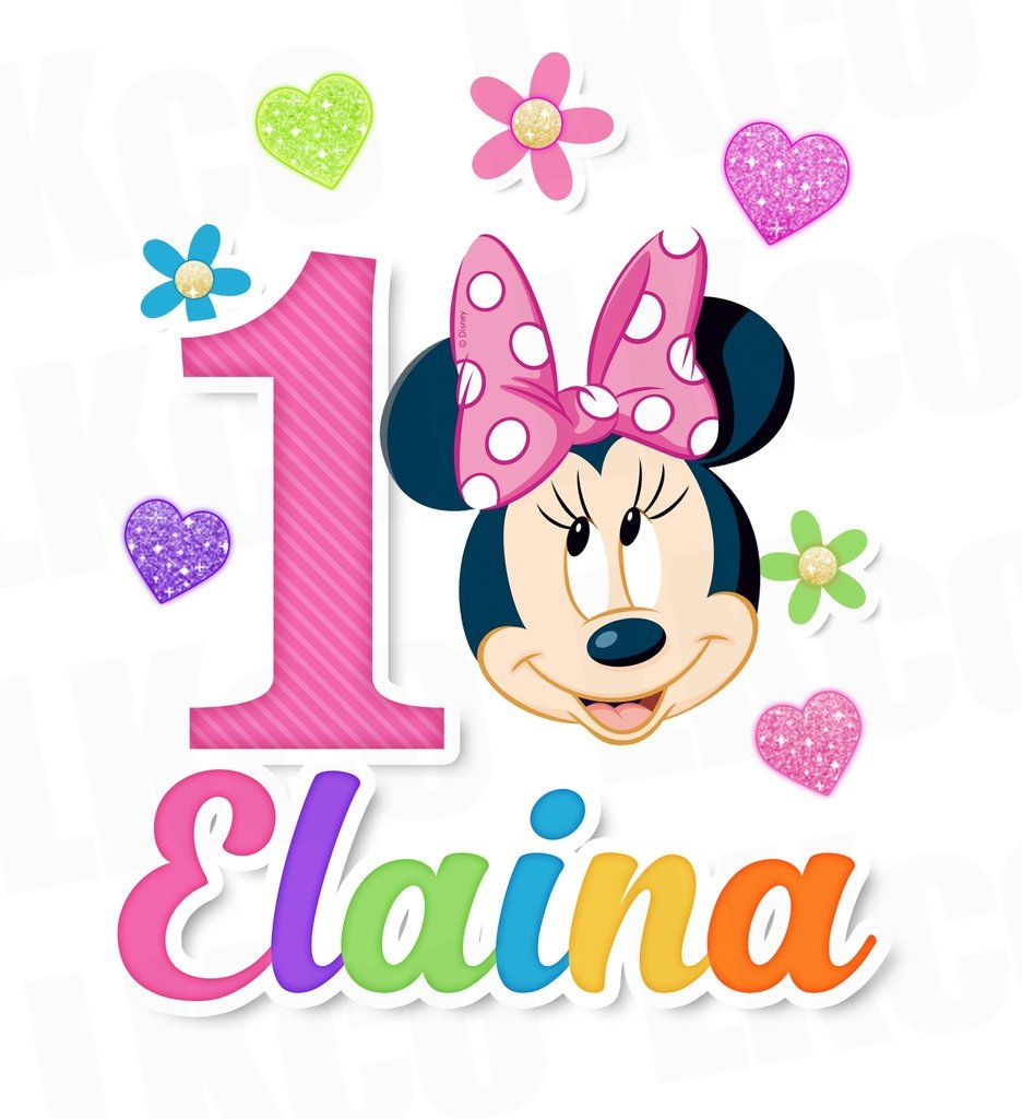 Pin On Minnie Mouse Birthday Shirts