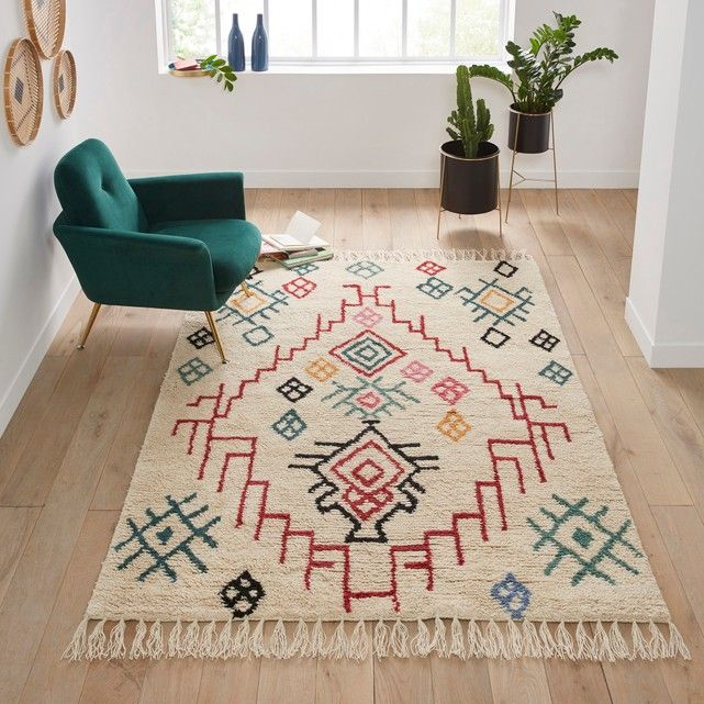 Urban Outfitters Berber Rug: Adza Woolen Berber-style Rug , Multi-coloured, La Redoute