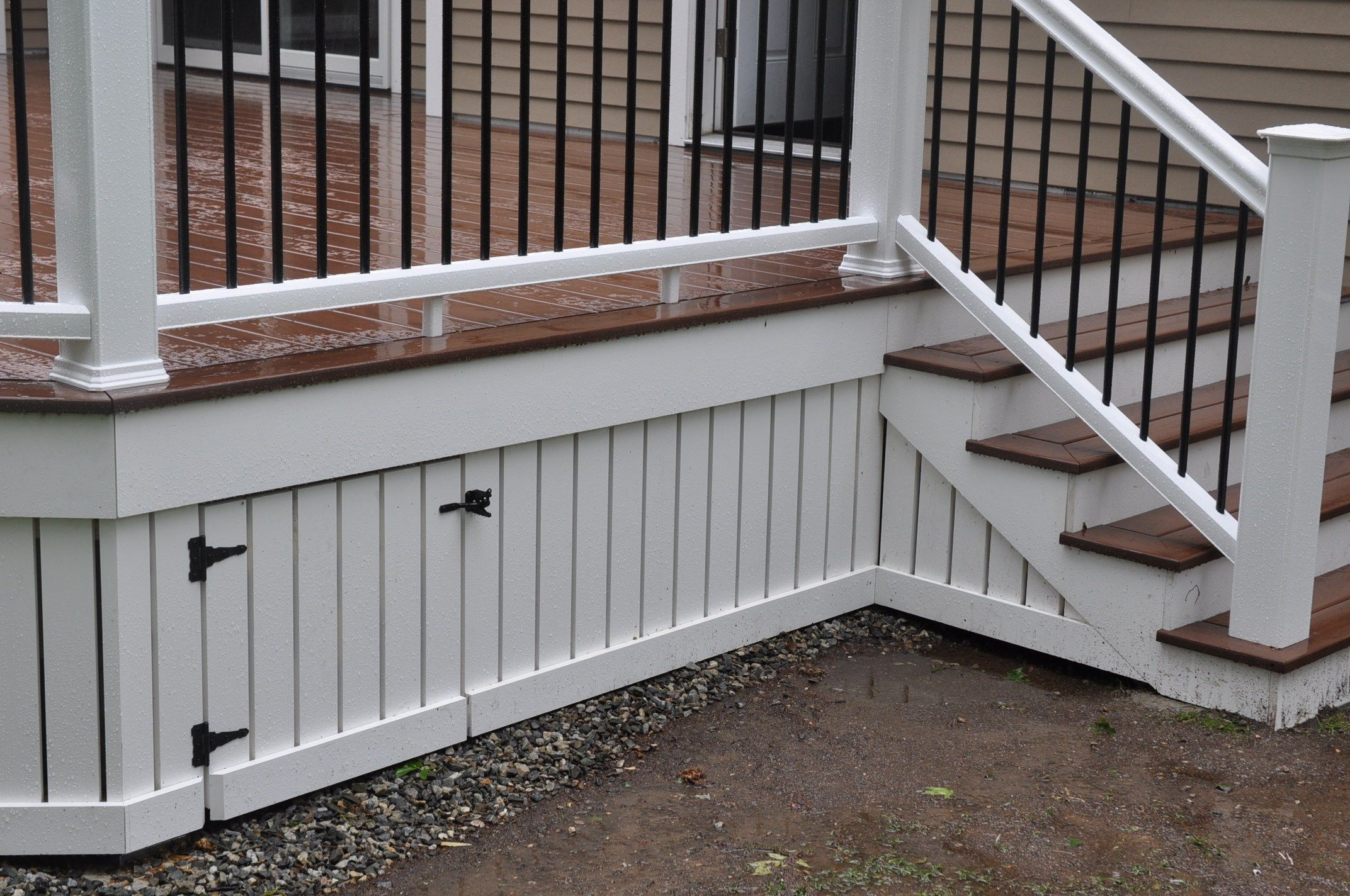Deck skirting can be an attractive feature that can be for How to build a low deck