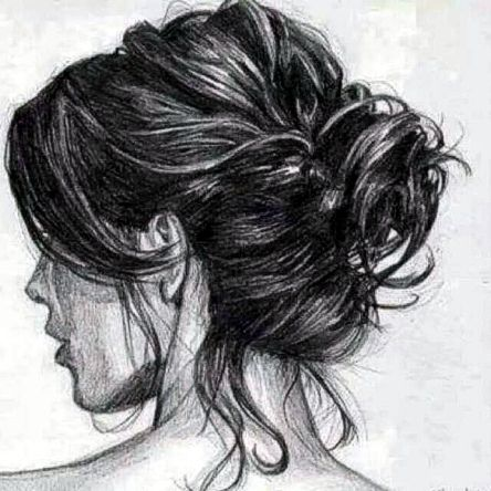 Hair Drawing Just A Few Quick Bold Confident Strokes With Charcoal Pencil