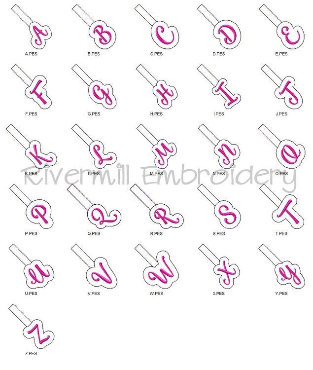 4x4 Many formats pes, dst, exp and more, Elegant Full Monogram Initial Font  Set Machine Embroidery Design Digital Pattern Instant Download
