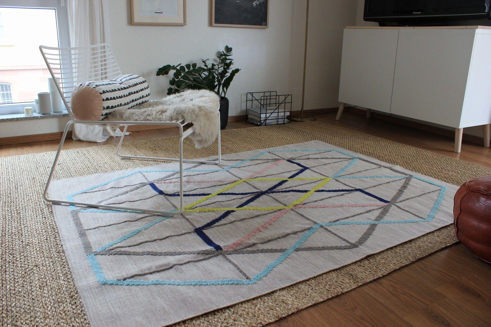 Wunderschöner Wollteppich Ikea Ps 2014 Pastell Geometrisch Handarbeit Carpet Ikea Wollteppich Teppich