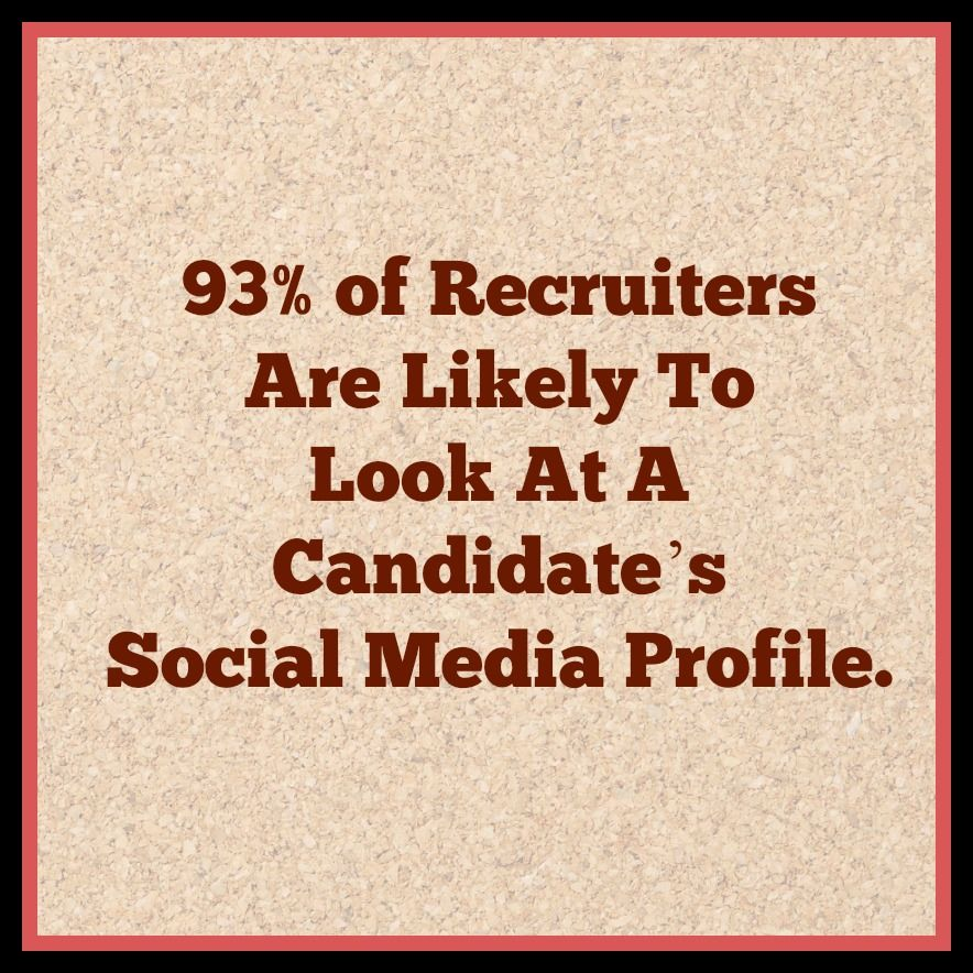 #DidYouKnow #Thursday : 93% of Recruiters are likely to look at a Candidate's Social Media Profile.