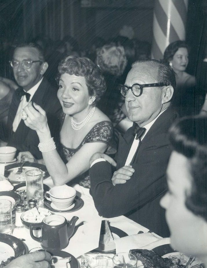 Claudette Colbert and Jack Benny