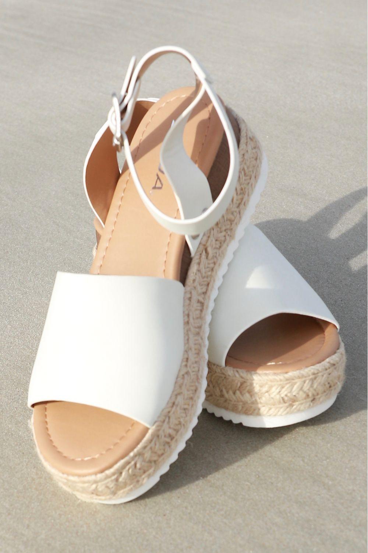 White Bottom Woven Sandal Off White