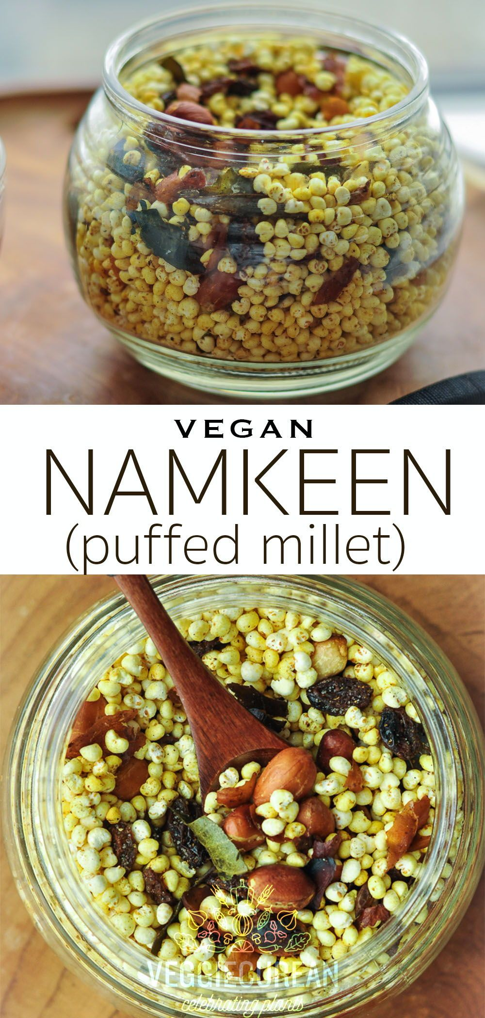 Namkeen (Puffed Millet) Recipe Vegan snacks, Vegan