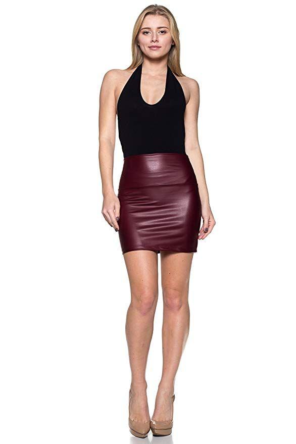 d2d45c4b753 Cemi Ceri Women's J2 Love Faux Leather Mini Skirt at Amazon Women's  Clothing store: