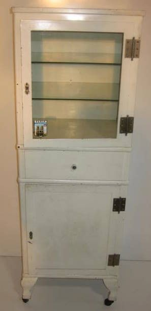 Vintage pharmacy cabinet bath pinterest pharmacy apothecaries and closet vanity for Apothecary style bathroom vanity