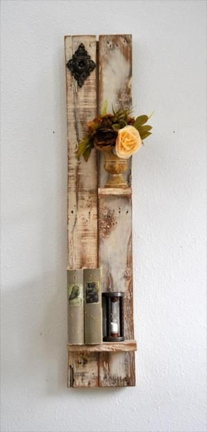 DIY Decorative Shelf Made from Pallets Wood | Pallet Furniture DIY by cecile