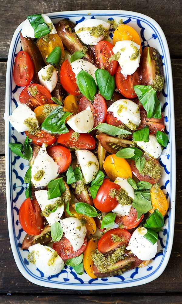 caprese tomate mozzarella basilikum ich liebe foodblogs pinterest salat. Black Bedroom Furniture Sets. Home Design Ideas
