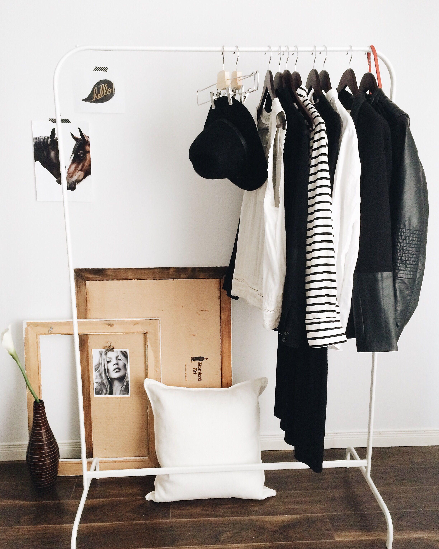Ikea Mulig clothes rack and Gullklocka Cushion cover ...