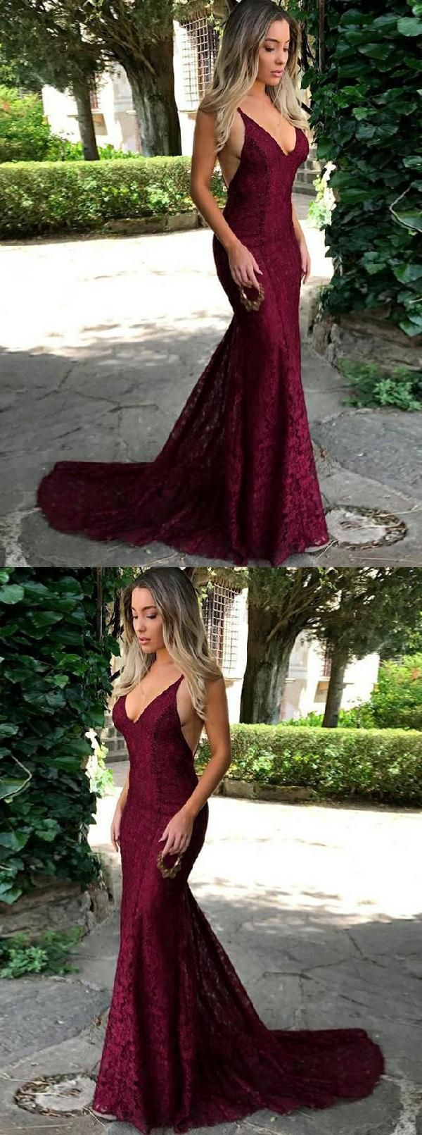 Outlet suitable backless prom dresses burgundy prom dresses lace