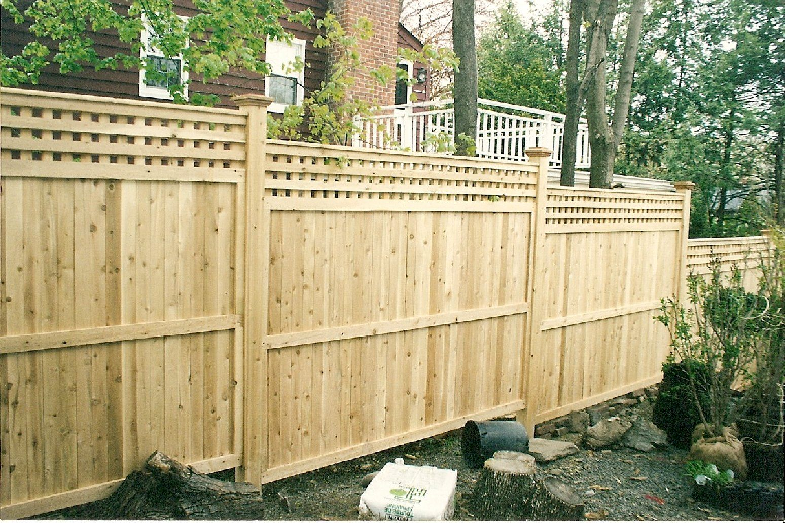 wood with lattace privacy fence   Cedar Privacy Styles by Protection ...