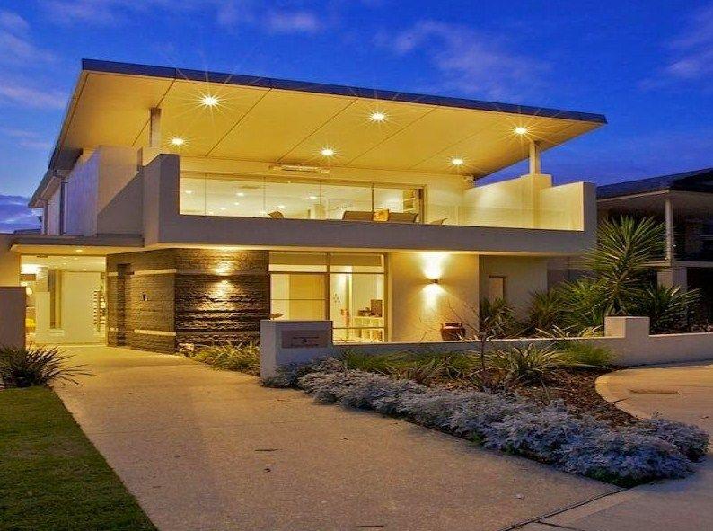 Fachadas de casas de dos pisos modernas | Fachadas casa | Pinterest ...