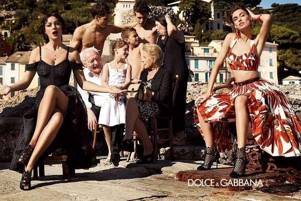 fae2660b811bd Italian Family Fashion Ads - The Dolce   Gabbana Spring 2012 Campaign Stars  Monica Bellucci (GALLERY)