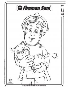 Fireman Sam and Lion Fireman Sam Coloring Pages PBS KIDS Sprout
