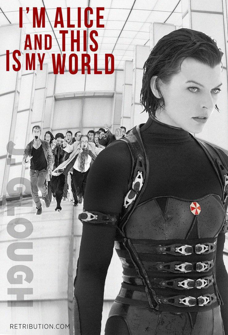 Resident Evil Retribution Alice S World Poster By Jessevega On