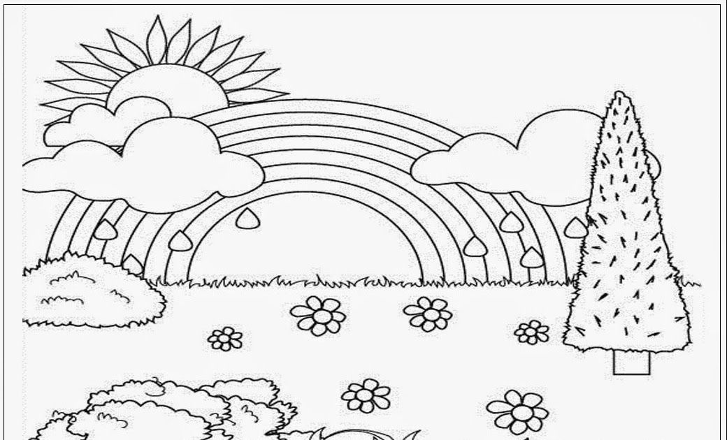 21 Gambar Pemandangan Untuk Diwarnai Anak Tk Mewarnai Gambar Pelangi Kreasi Warna D Coloring Pages Nature Unicorn Coloring Pages Coloring Pictures For Kids