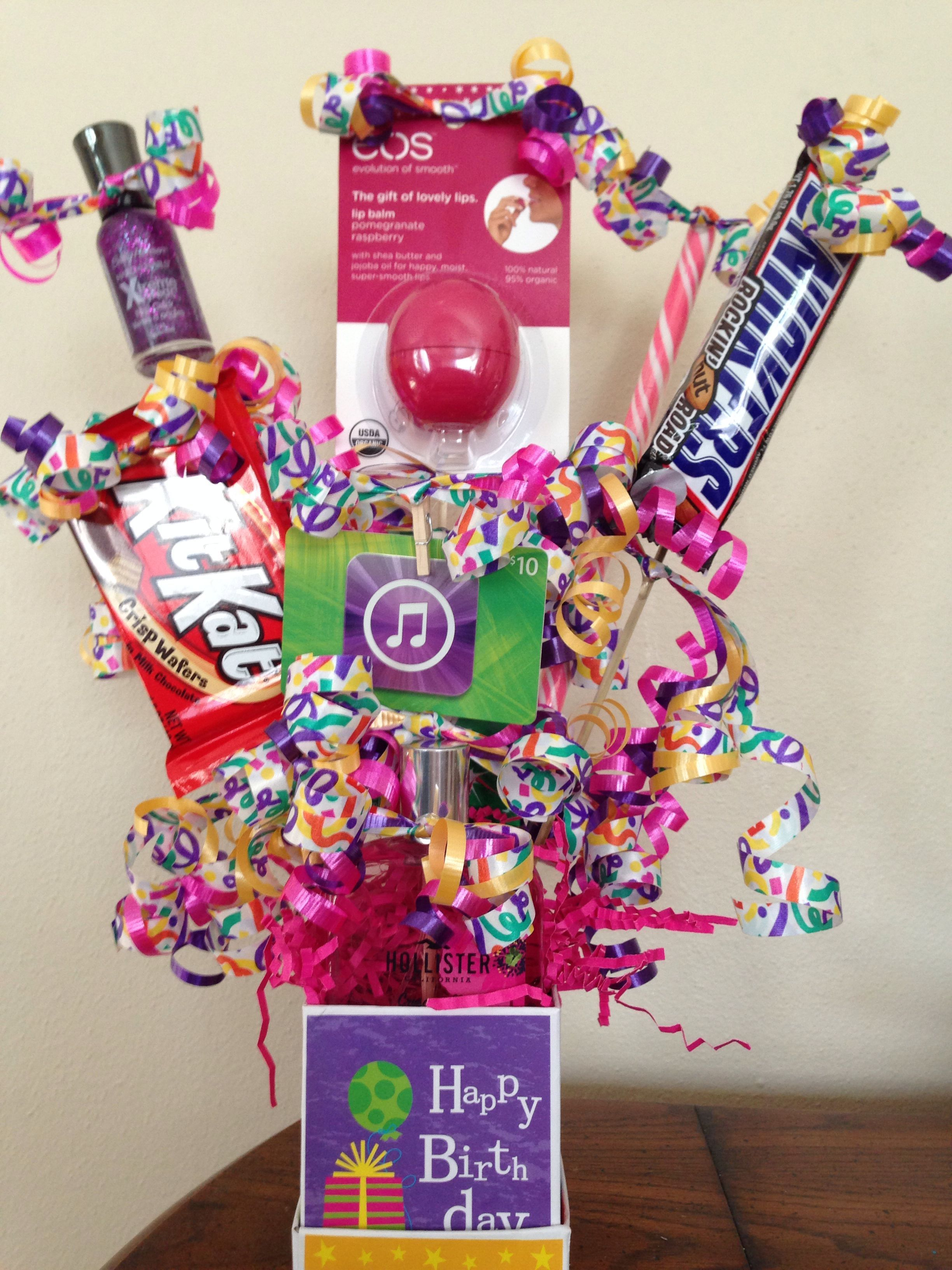 Teen Birthday Gift Basket More Teenbirthdaygifts