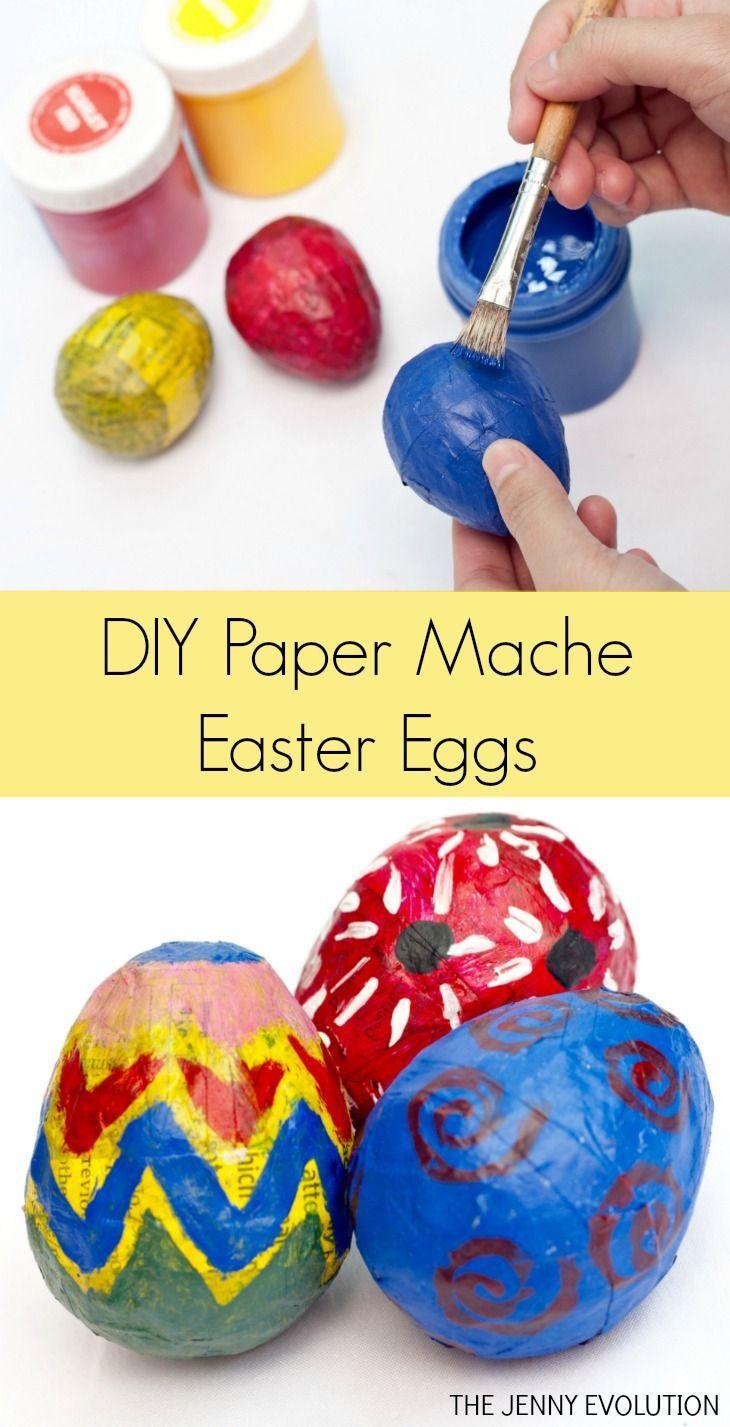 Diy Easter Paper Mache Eggs Easter Paper Mache Paper Mache
